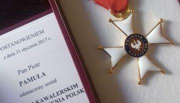 Harcmistrz Piotr Pamuła odznaczony Krzyżem Kawalerskim